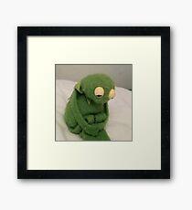 sad kermit Framed Print