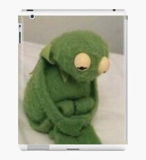 sad kermit iPad Case/Skin