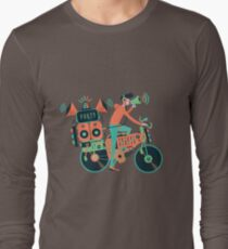 Party bike. Music and cycling Long Sleeve T-Shirt