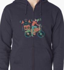 Party Fahrrad. Musik und Radfahren Kapuzenjacke