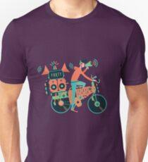 Party Fahrrad. Musik und Radfahren Unisex T-Shirt
