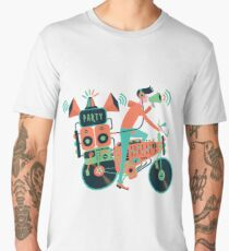 Party bike. Music and cycling Men's Premium T-Shirt