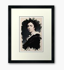 Young Faces from the past Series by Adam Asar, No 24 Framed Print