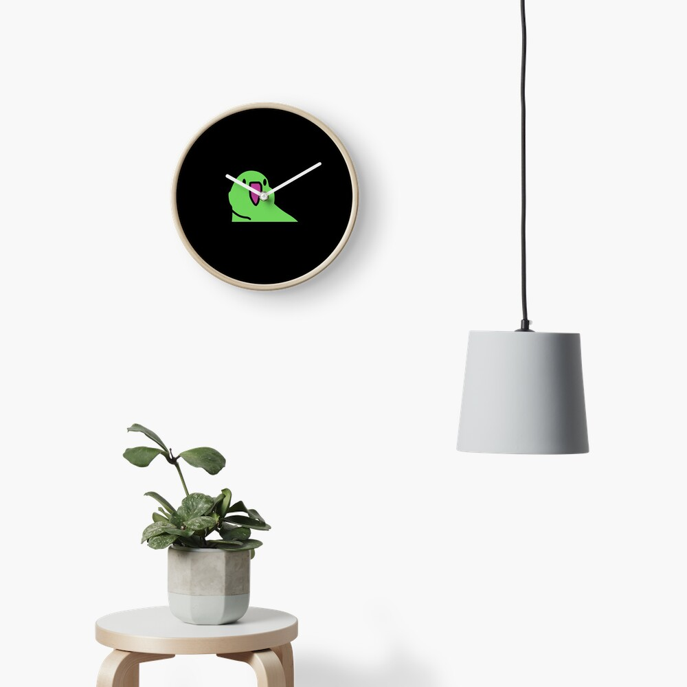 Party Parrot Green Clock