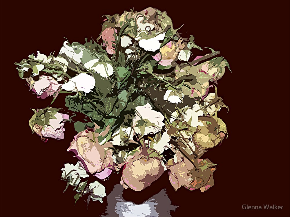 Withered Away Roses by Glenna Walker