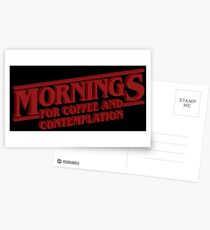 Coffee and Contemplation Postcards
