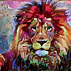 Colorful Lion Painting by erisian