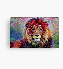 Colorful Lion Painting Canvas Print