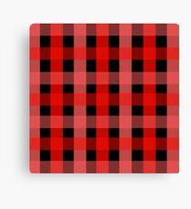 red black checks Canvas Print
