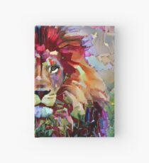 Colorful Lion Painting Hardcover Journal