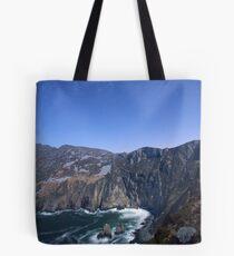 Star trails over Sliabh Liag Tote Bag