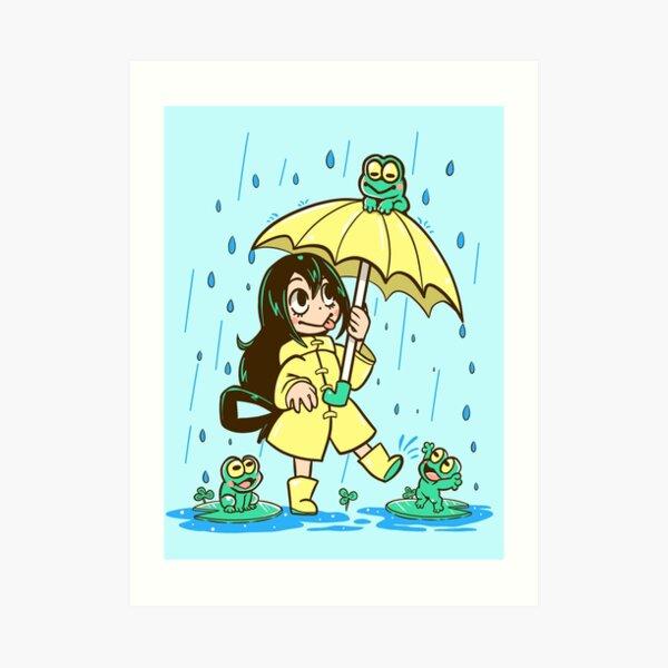 Best Frog Girl Art Print