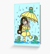 Best Frog Girl Greeting Card
