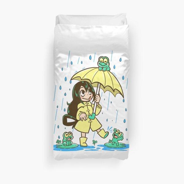 Best Frog Girl Duvet Cover