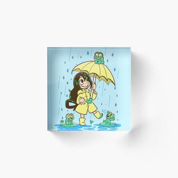Best Frog Girl Acrylic Block