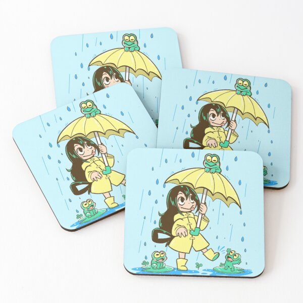 Best Frog Girl Coasters (Set of 4)