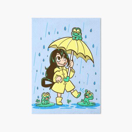 Best Frog Girl Art Board Print