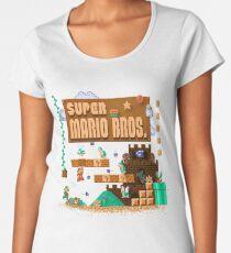 Mario Super Bros Women's Premium T-Shirt