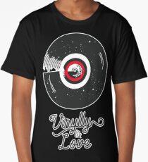 Vinylly In Love - Vinyl Album Pun Shirt Long T-Shirt