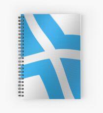 Blue Stylized Cross Spiral Notebook