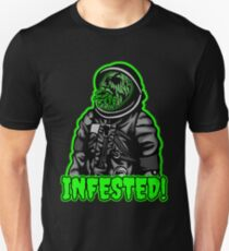 Alien Parasite Infested Space Zombie T-Shirt