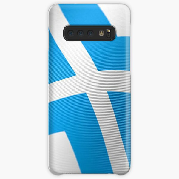 Blue Stylized Cross Samsung Galaxy Snap Case