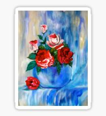 Roses and Vase Sticker