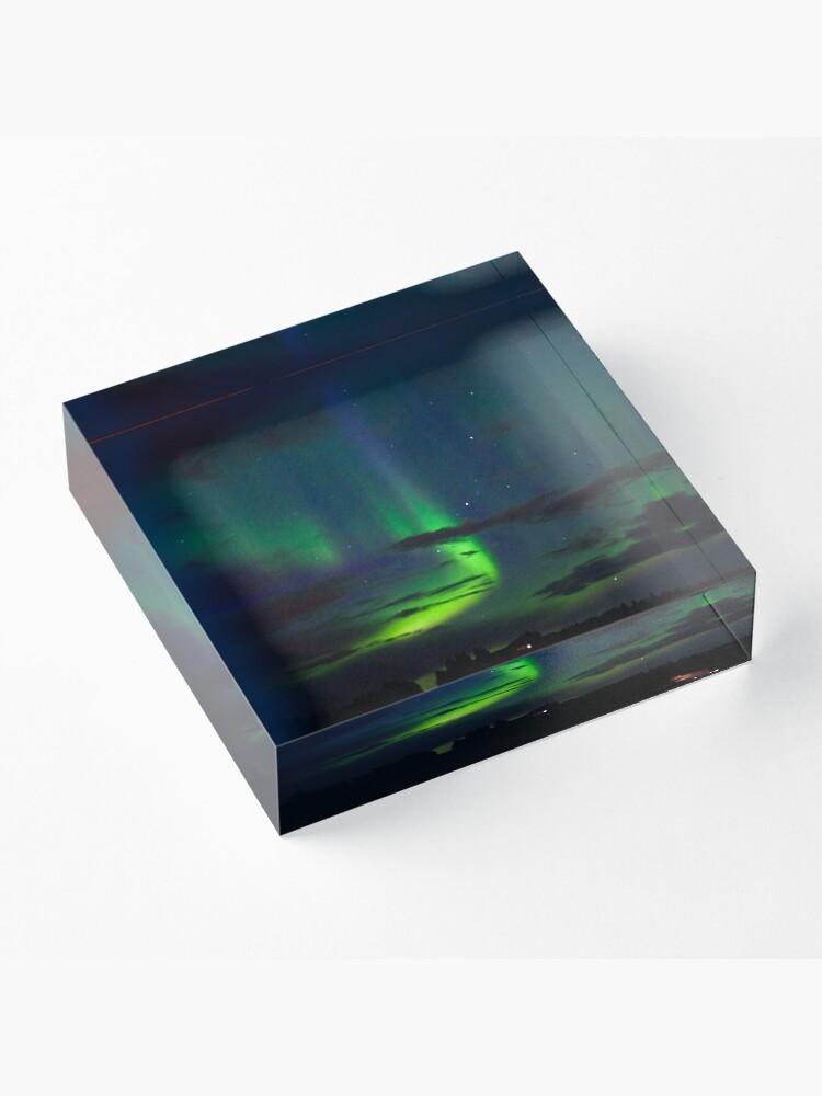 Alternate view of Edmonton Aurora Borealis Acrylic Block