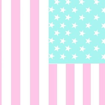 pastel american flag by cedougherty