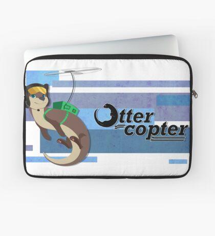 Ottercopter Banner (Blue) Laptop Sleeve