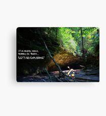 Let's Go Exploring Canvas Print