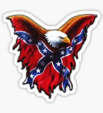 Rebel Flag Eagle Sticker