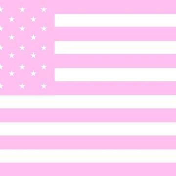bandera americana pastel rosa de cedougherty