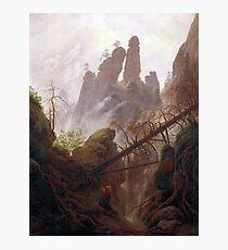 Casper David Friedrich Rocky Landscape in the Elbe Sandstone Mountains Photographic Print