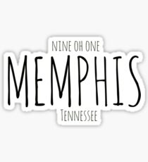 Memphis, TN: Nine Oh One.  Sticker