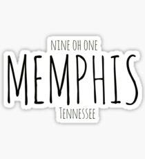 Pegatina Memphis, TN: Nueve Oh Uno.