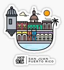 San Juan, Puerto Rico - Color Sticker