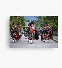 Queens Royal Guards, Ballater Scotland Canvas Print
