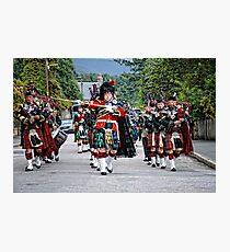 Queens Royal Guards, Ballater Scotland Photographic Print