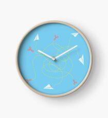 Scissors alive! Clock