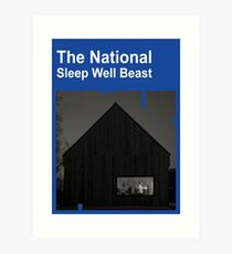 The National - Sleep Well Beast Art Print