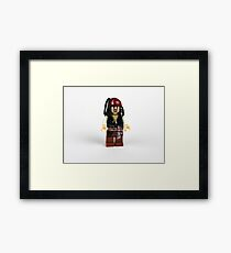 Pirate Figure Framed Print
