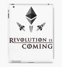 Revolution Is Coming With Ethereum  Ether To The Moon iPad Case/Skin