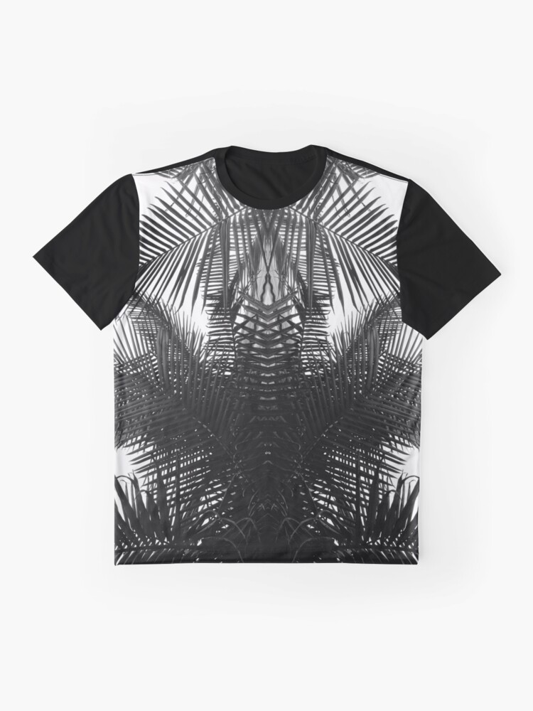 Alternate view of Black and white fern Graphic T-Shirt