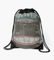 Cheshire Grin Drawstring Bag