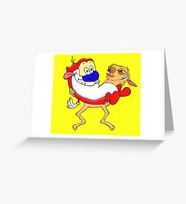 Modern Ren and Stimpy  Greeting Card