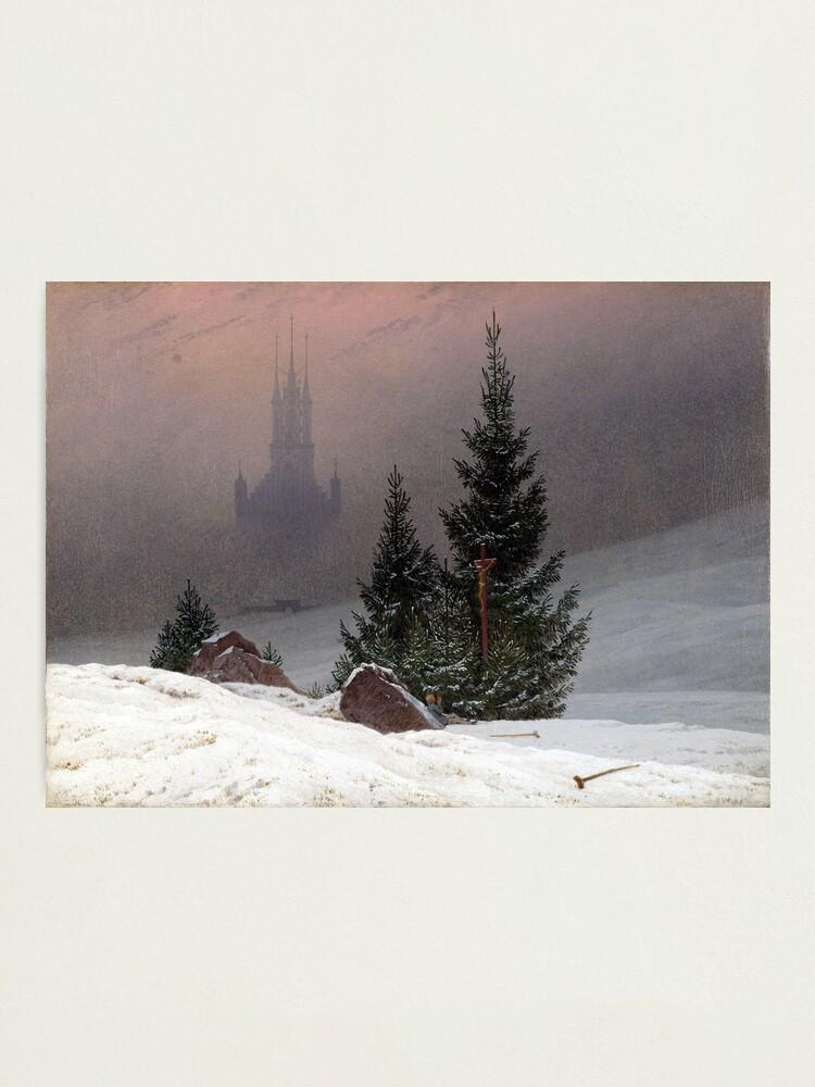 Caspar David Friedrich Winter Landscape Photographic Print By Pdgraphics Redbubble