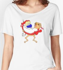 Modern Ren and Stimpy  Women's Relaxed Fit T-Shirt