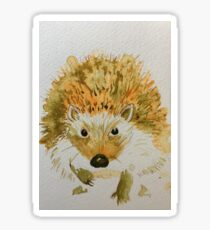 Hedgehog in a Hurry Sticker