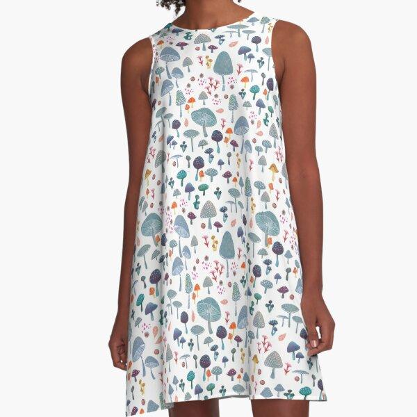scattered mushroom pattern A-Line Dress